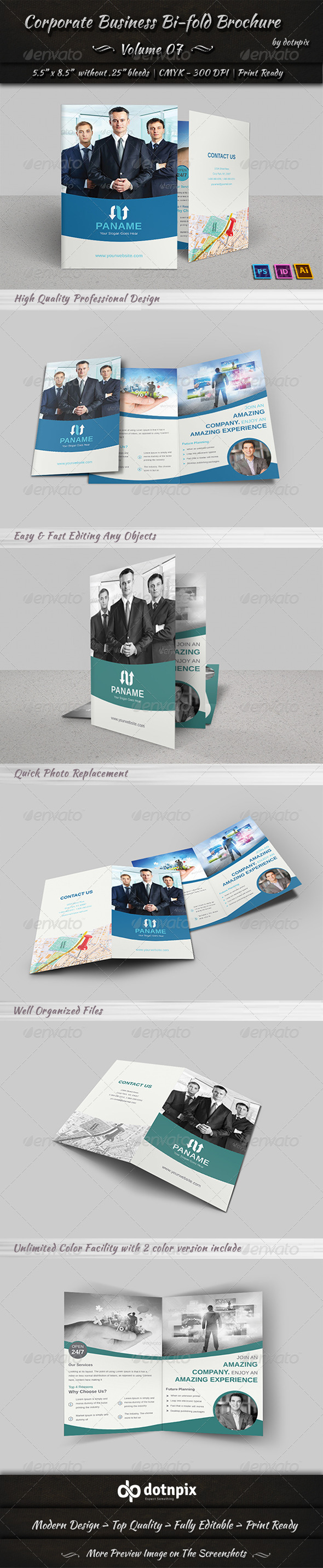 Corporate Business Bi-Fold Brochure | Volume 7 - Corporate Brochures
