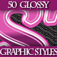 Set of Colorful Glossy Graphic Styles for Design - GraphicRiver Item for Sale