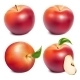 Red Ripe Apples with Green Leaves - GraphicRiver Item for Sale