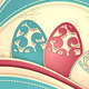 Post Card with Paper Easter Eggs Flowers - GraphicRiver Item for Sale