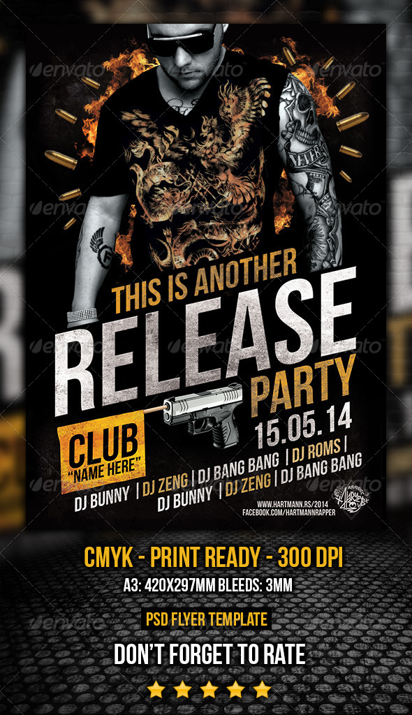 Release Party Flyer - Clubs & Parties Events