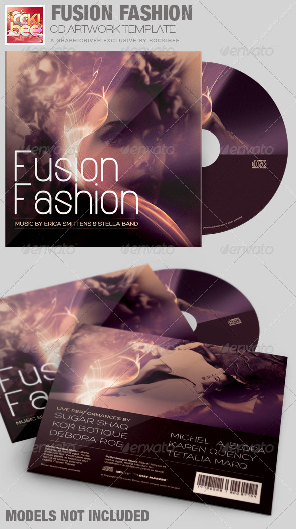 Fusion Fashion CD Artwork Template - CD & DVD Artwork Print Templates