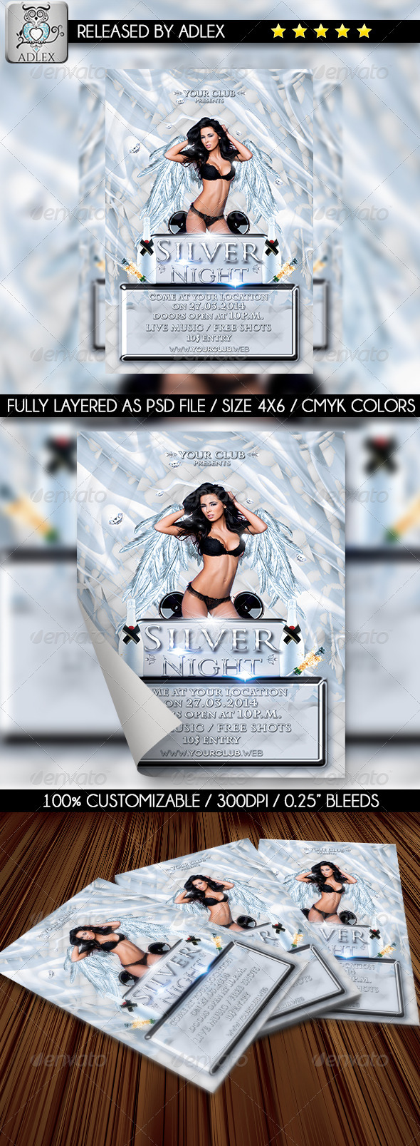 Silver Night-Elegant Party Flyer - Clubs & Parties Events