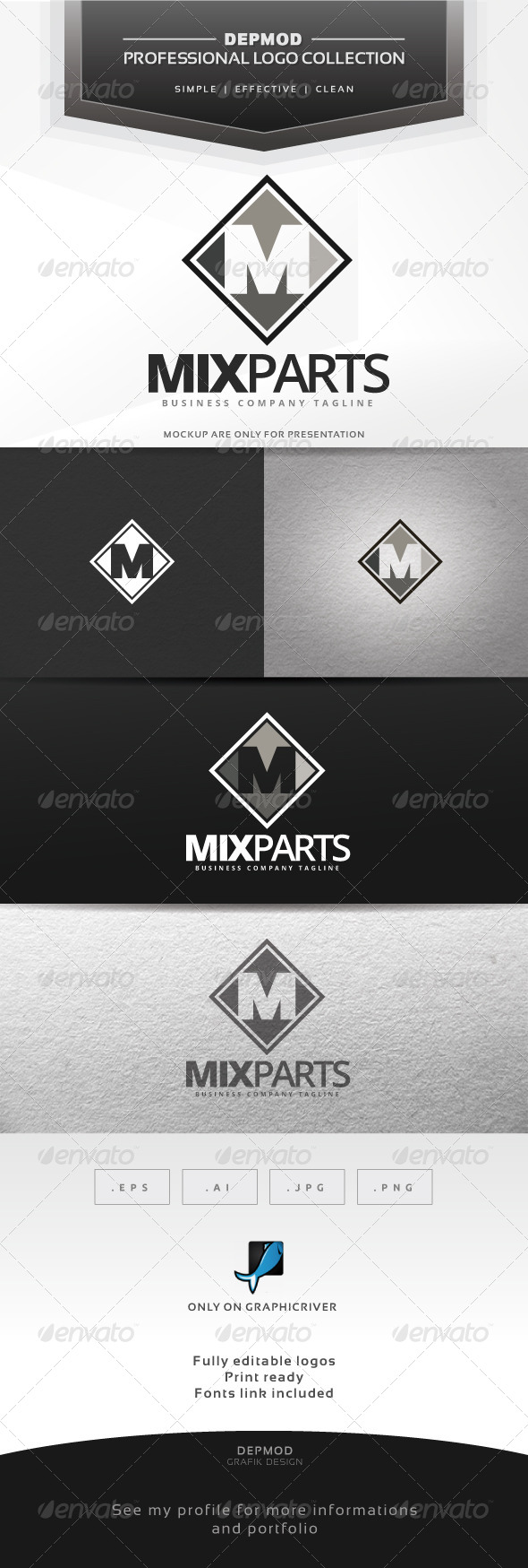 Mix Part Logo - Letters Logo Templates