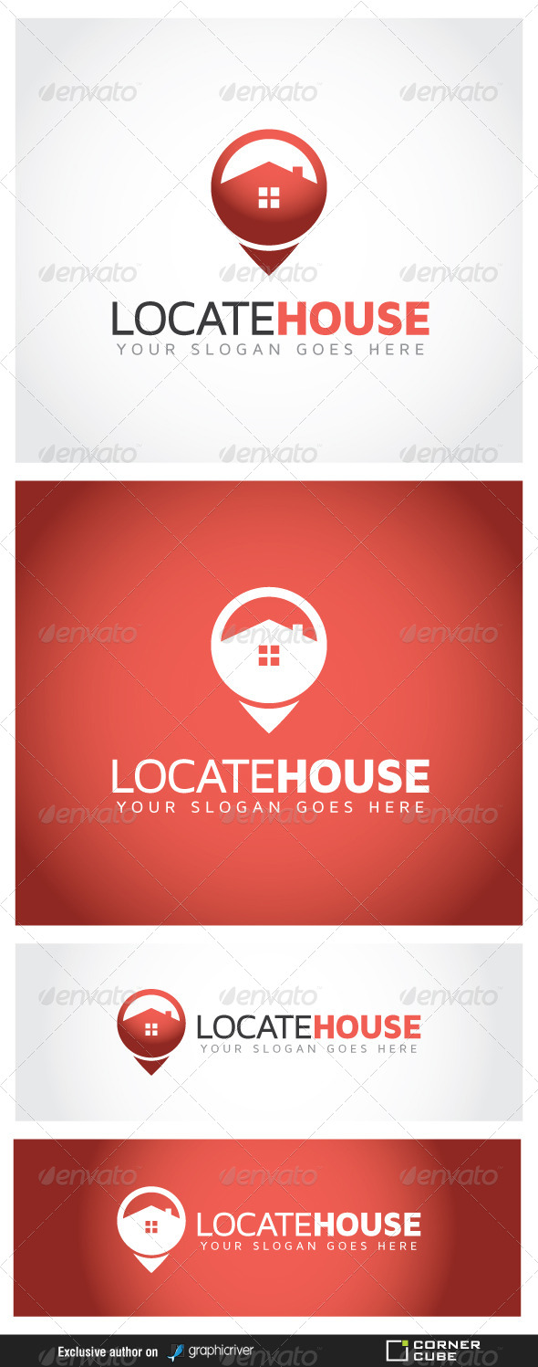 Locate House Logo - Logo Templates