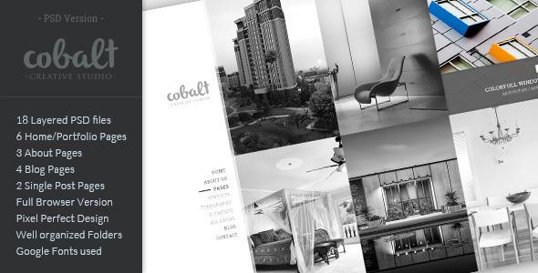 Cobalt – Creative Studio PSD Template