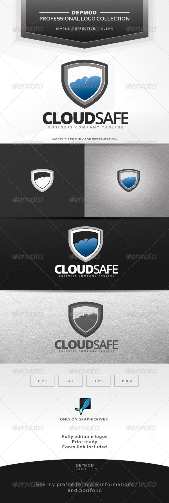 Cloud Safe Logo - Symbols Logo Templates