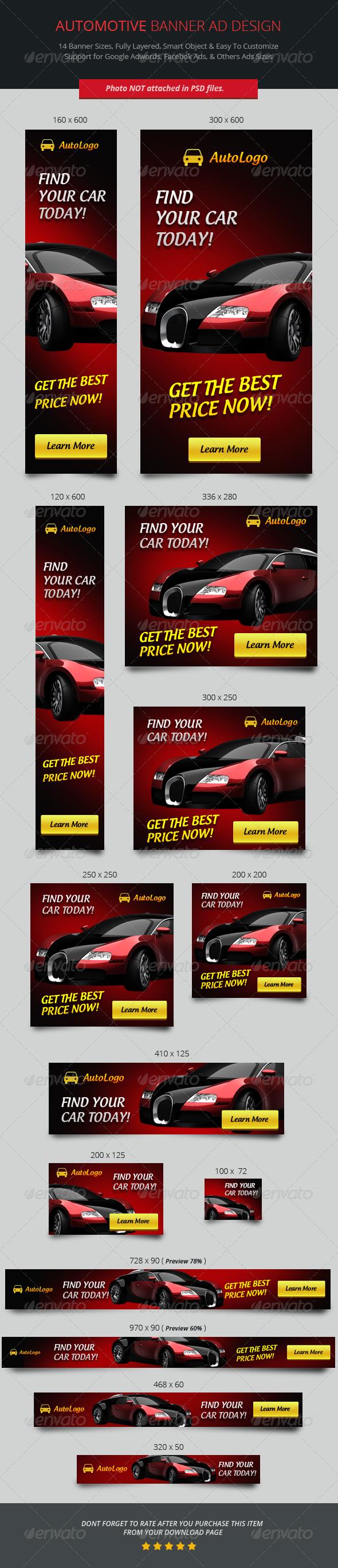 Automotive Banner ad Design - Banners & Ads Web Elements