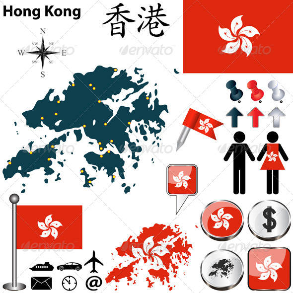 Map of Hong Kong - Travel Conceptual