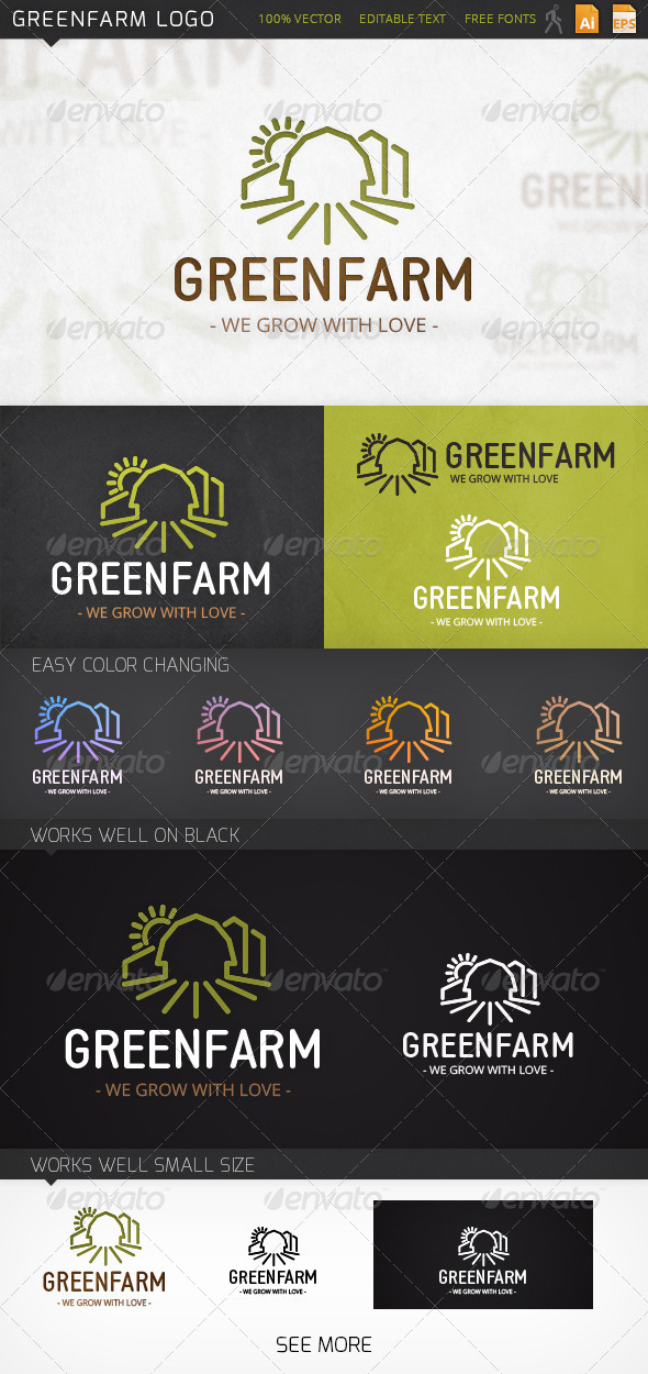Greenfarm Logo Template - Buildings Logo Templates