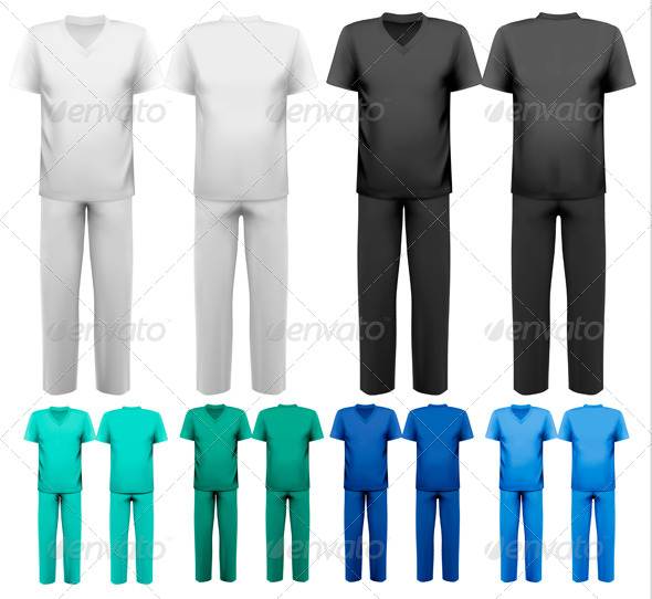 Sets of Medical and Doctor Clothes - Health/Medicine Conceptual