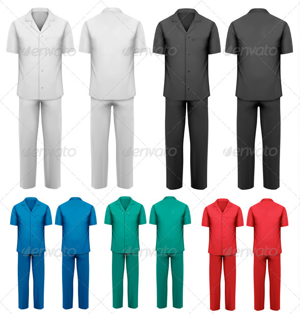 Set of Medical and Doctor Clothes - Health/Medicine Conceptual