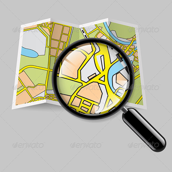 Map Booklet with Zoom - Miscellaneous Vectors