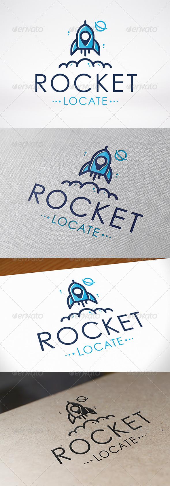 Rocket Locator Logo Template - Objects Logo Templates
