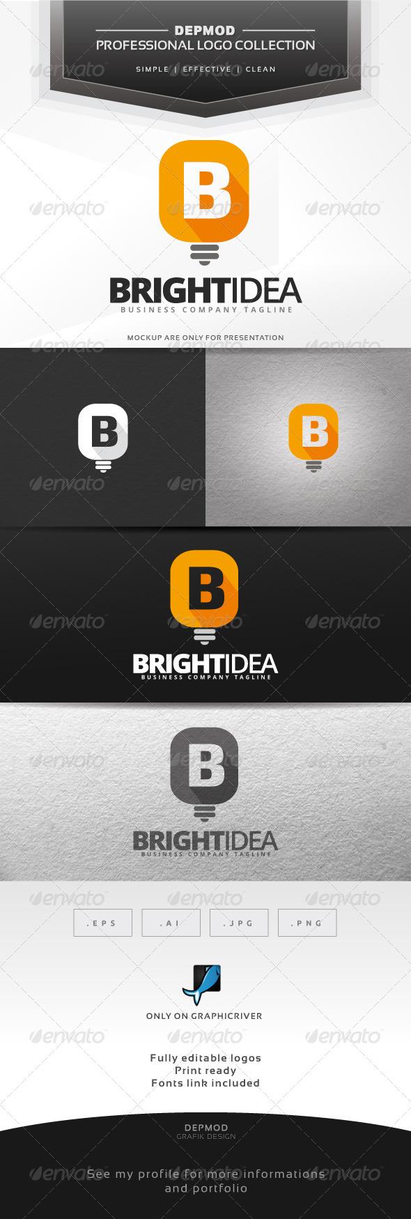 Bright Idea Logo - Letters Logo Templates
