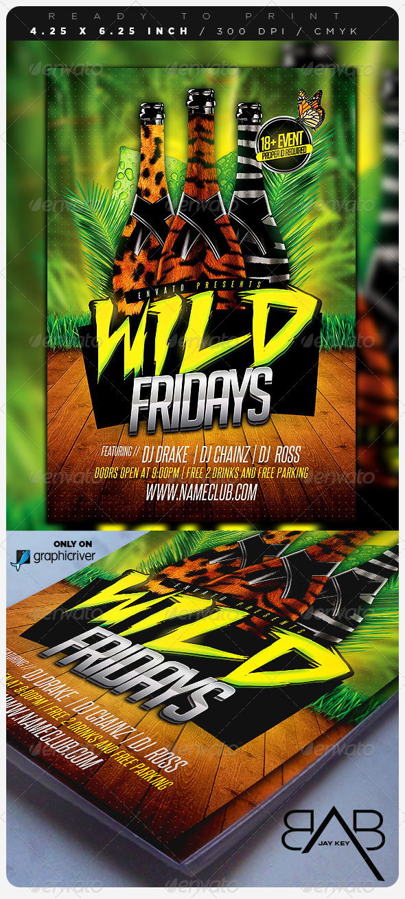 Wild Days Party Flyer - Events Flyers