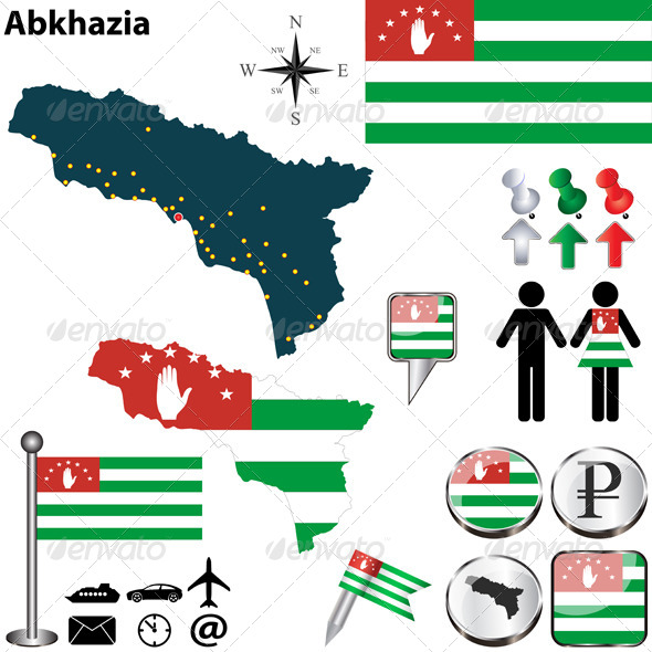 Map of Abkhazia - Travel Conceptual