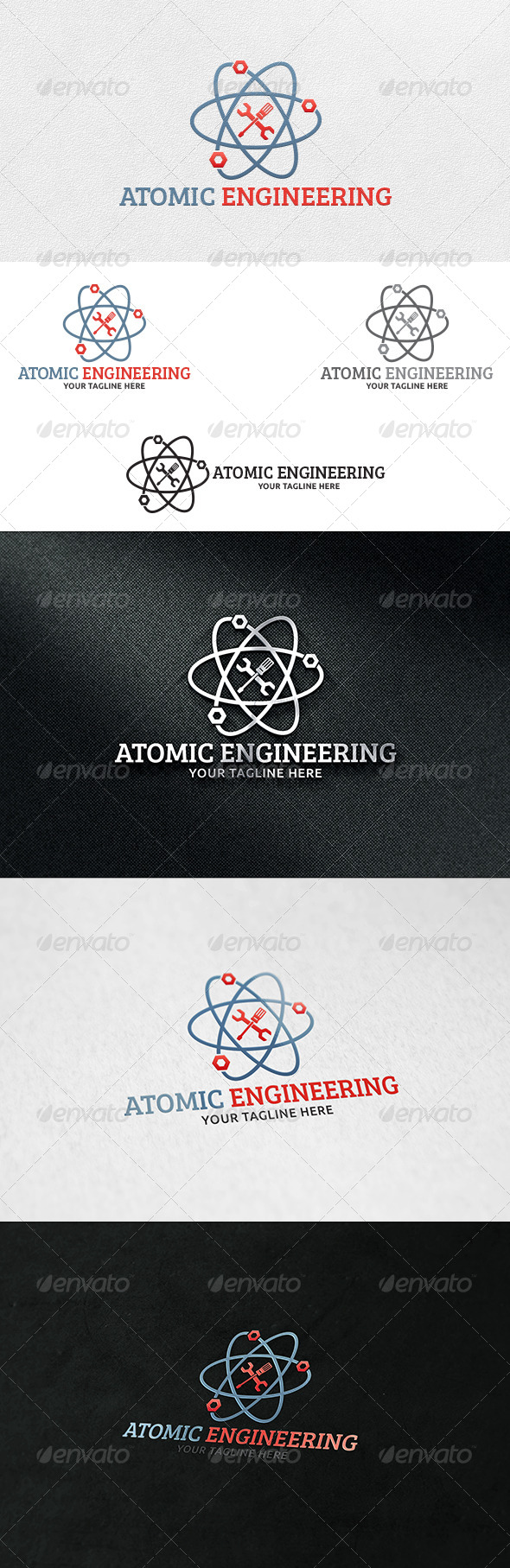 Atomic Engineering - Logo Template - Symbols Logo Templates
