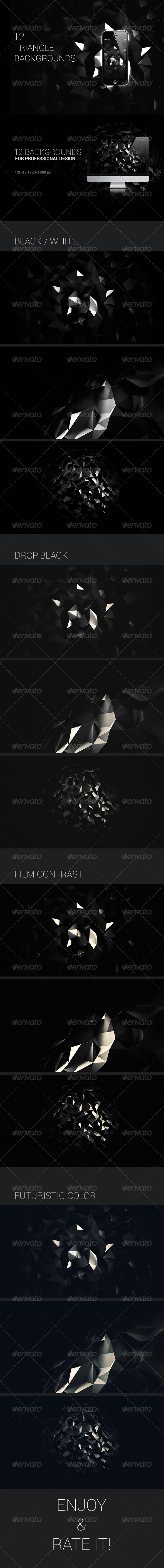 3D Polygon Backgrounds - Abstract Set - Backgrounds Graphics