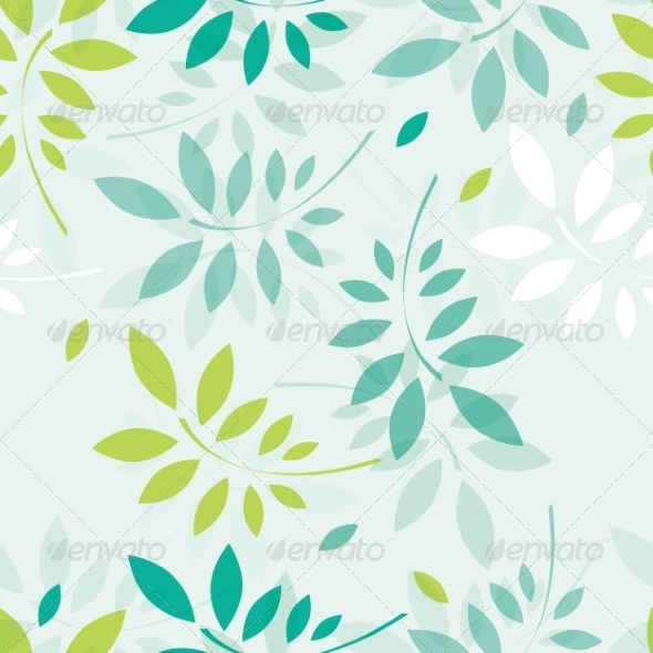 Spring Background with Branches and Leaves - Flowers & Plants Nature