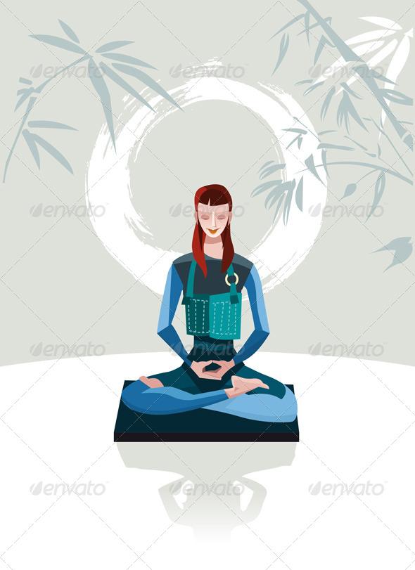 Woman Meditating - Religion Conceptual
