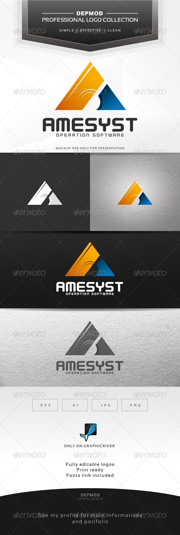Amesyst Logo - Letters Logo Templates