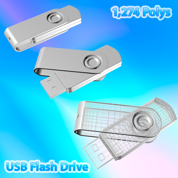 USB Flash Drive 03 - 3DOcean Item for Sale
