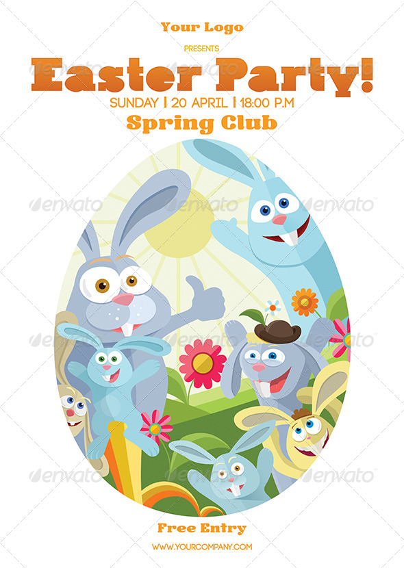 Easter poster by denisbors graphicriver for What is the easter bunny s phone number