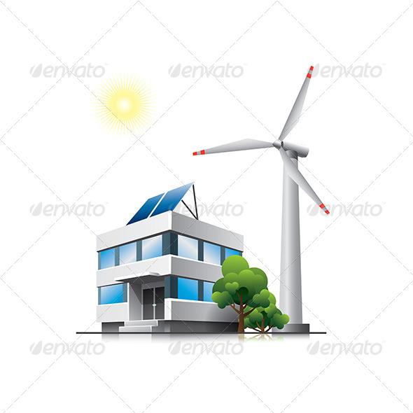 Green Office - Buildings Objects