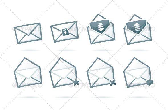Envelope Icons - Web Elements Vectors