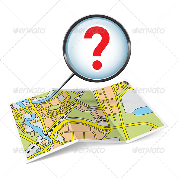 Map Booklet with Question Mark - Miscellaneous Vectors