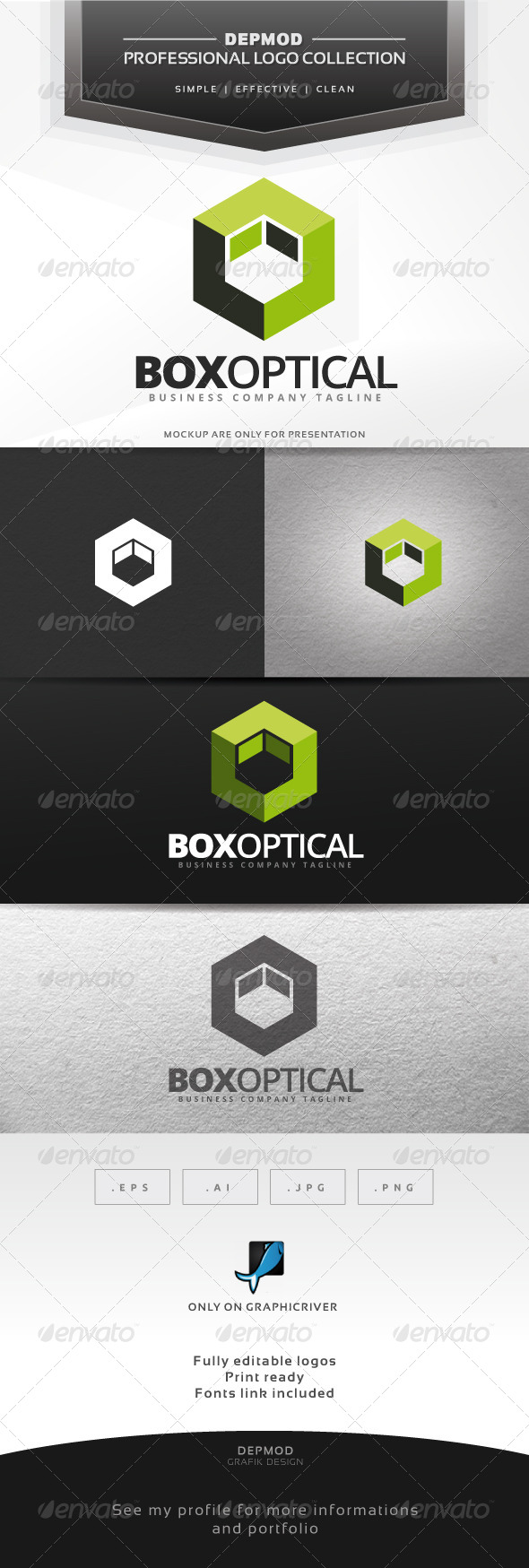 Box Optical Logo - Abstract Logo Templates