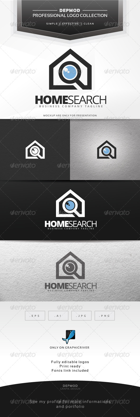 Home Search Logo - Symbols Logo Templates