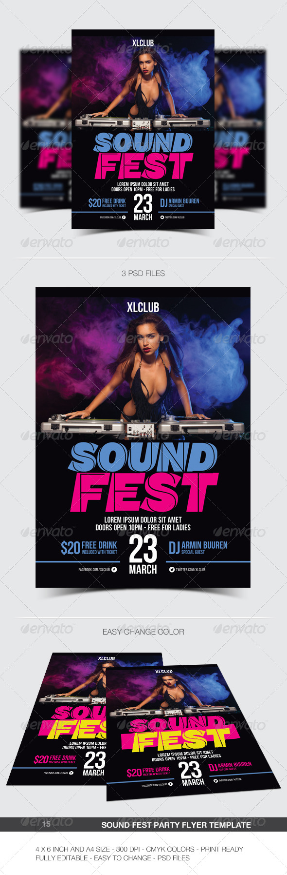 Sound Fest Party Flyer / Poster - 15 - Clubs & Parties Events