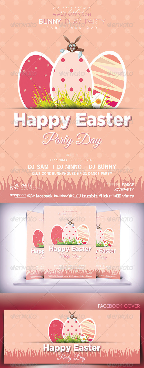 Easter Day Party Flyer - Flyers Print Templates