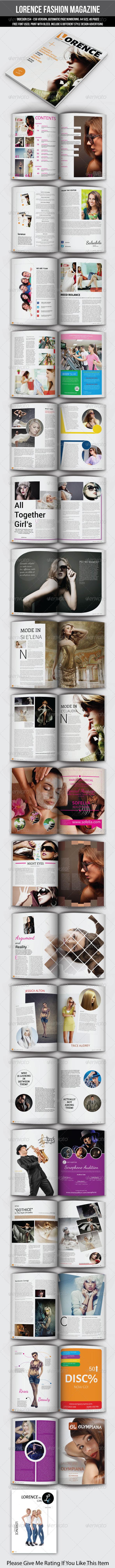 Lorence Fashion Magazine - Magazines Print Templates