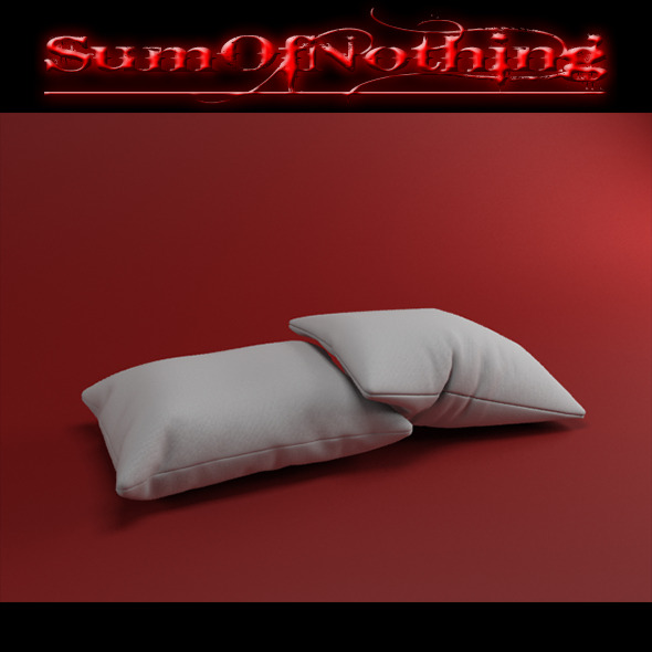 White Pillows (realistic cloth) - 3DOcean Item for Sale