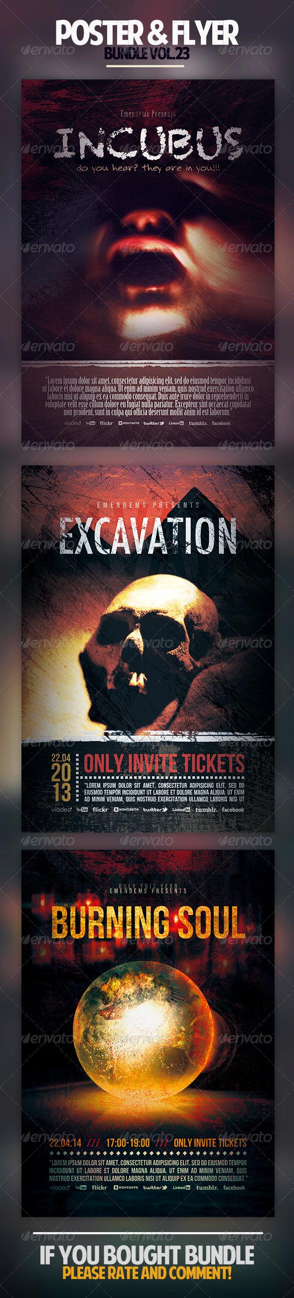 Poster & Flyer Bundle Vol.23 - Miscellaneous Events