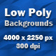 8 HQ Low Poly Backgrounds - GraphicRiver Item for Sale