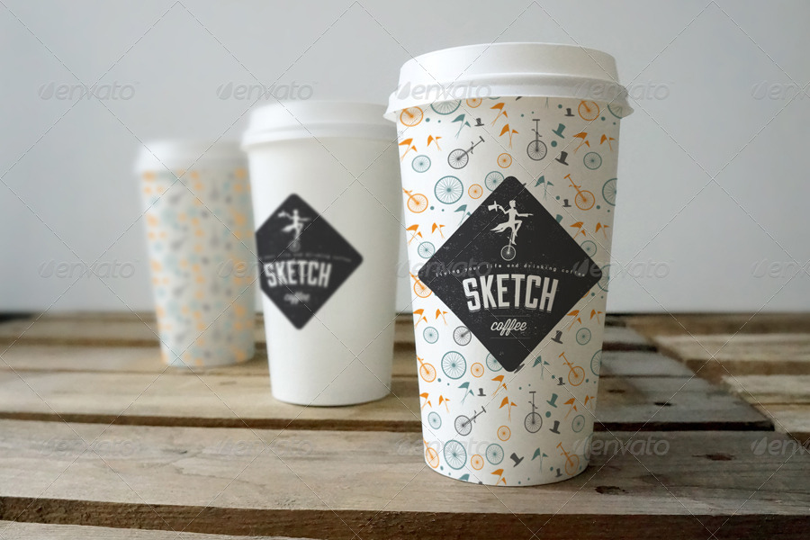 coffee cup branding mockup by amris graphicriver