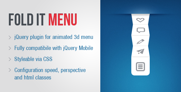 Fold It 3D Menu - CodeCanyon Item for Sale