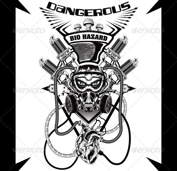 Bio Hazard - Grunge Designs