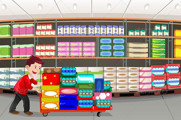 Man Shopping - Commercial / Shopping Conceptual