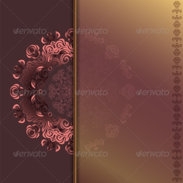 Card with Abstract Roses Pattern - Patterns Decorative
