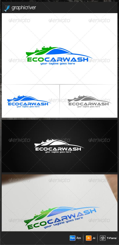 Eco Car Wash Logo Templates - Objects Logo Templates