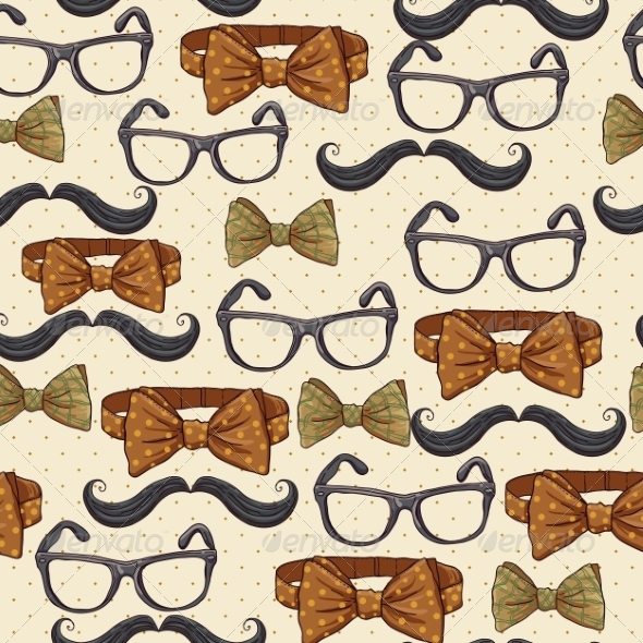 Seamless Vintage Hipster Background - Patterns Decorative