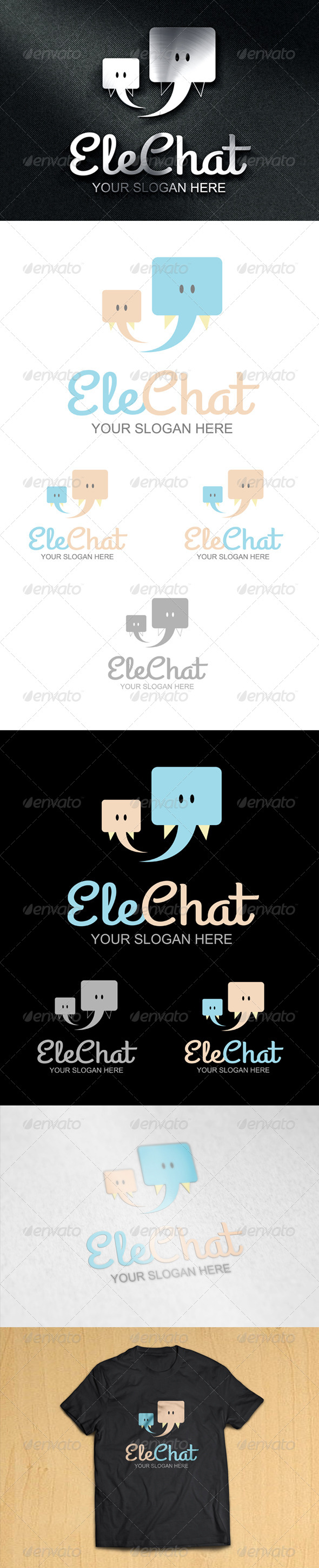 EleChat Logo - Animals Logo Templates