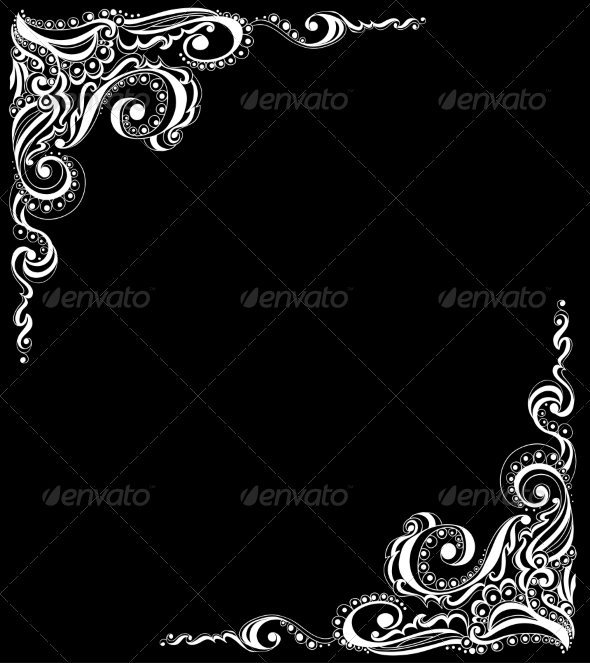 Abstract Floral Tattoo Pattern - Backgrounds Decorative