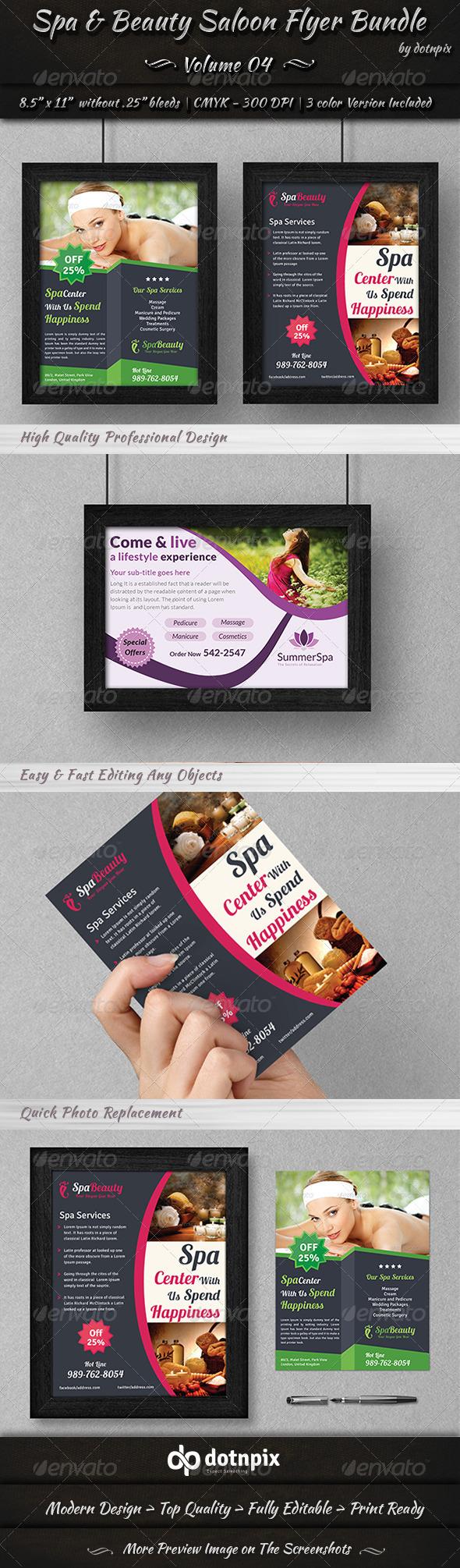 Spa & Beauty Saloon Flyer Bundle | Volume 4 - Corporate Flyers