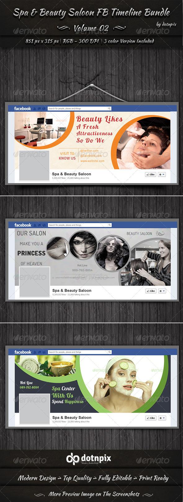 Spa & Beauty Saloon FB Timeline Bundle | Volume 2 - Facebook Timeline Covers Social Media